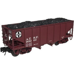 Atlas O  3-rail Santa Fe 55-ton fish belly hopper - Swasey's Hardware & Hobbies