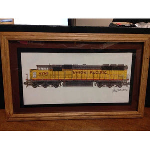 Union Pacific SD60M with Oak Frame - Swasey's Hardware & Hobbies