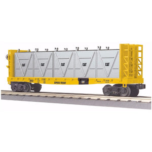 MTH Caterpillar Flat Car with Bulkheads and LCL Containers - Swasey's Hardware & Hobbies