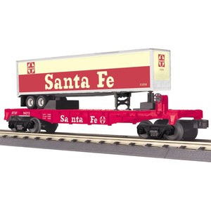 MTH Santa Fe Flat Car with Trailer - Swasey's Hardware & Hobbies