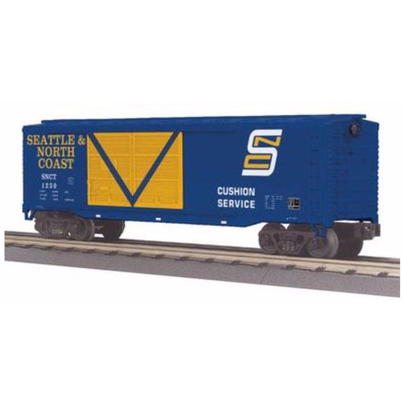 MTH 3-Rail Seattle & North Coast 40' Double Door Box Car - Swasey's Hardware & Hobbies
