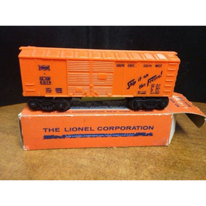 Lionel 6014-335 Orange 1957 Frisco Box Car - Swasey's Hardware & Hobbies