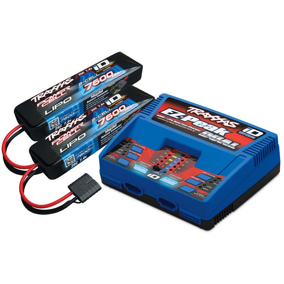2991 2S Battery/Charger Combo; 2-7600Mah + 1 Id Charger