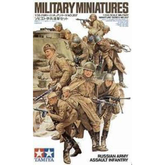1/35 Scale Tamiya 35207 Military Miniatures Russian Army Assault Infantry No 207