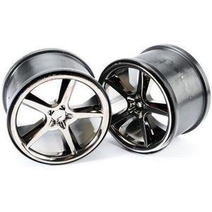 "5372A Gemini 3.8"" Black Chrome Wheel (2):E-Revo"