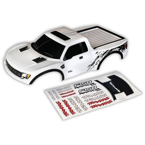 5815X Body Ford Raptor white painted decals white-(painted,-decals - Swasey's Hardware & Hobbies