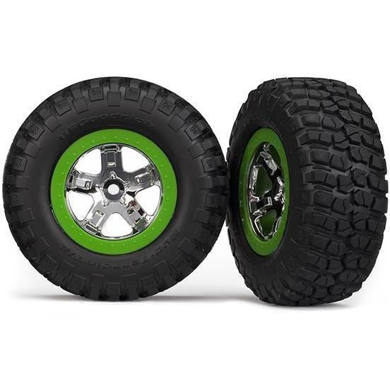 5865 Km Tires & Sct Wheels Assm Fr Wd Slash Sct-Wheels,-Assm-(2)
