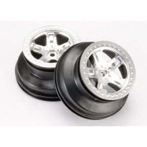 "5872 Satin Chrome Rear Wheels Outer Inner 2.2""Outer,3.0""Inner"