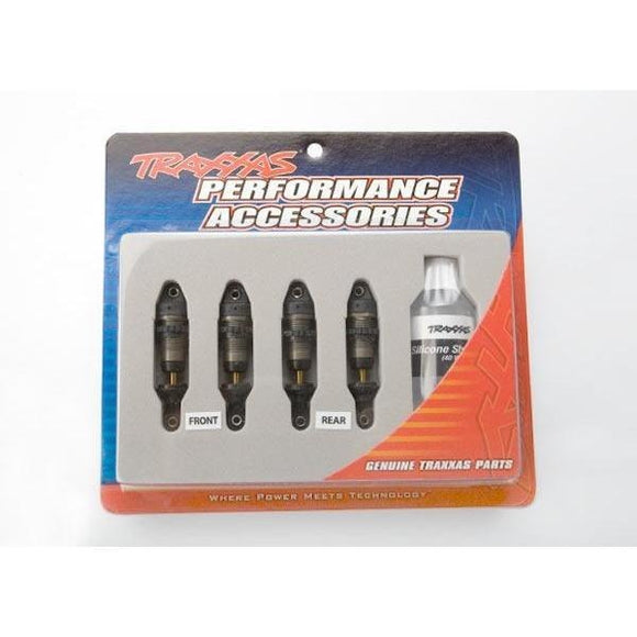 7061X Gtr Hard-Anodized Shocks (4) Without Springs: 1/16
