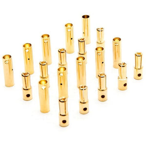 DYNC0087 Gold Bullet Connector Set, 4mm (10)