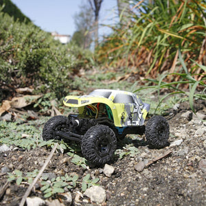 1/24 Temper 4WD Crawler Brushed RTR, Yellow/White