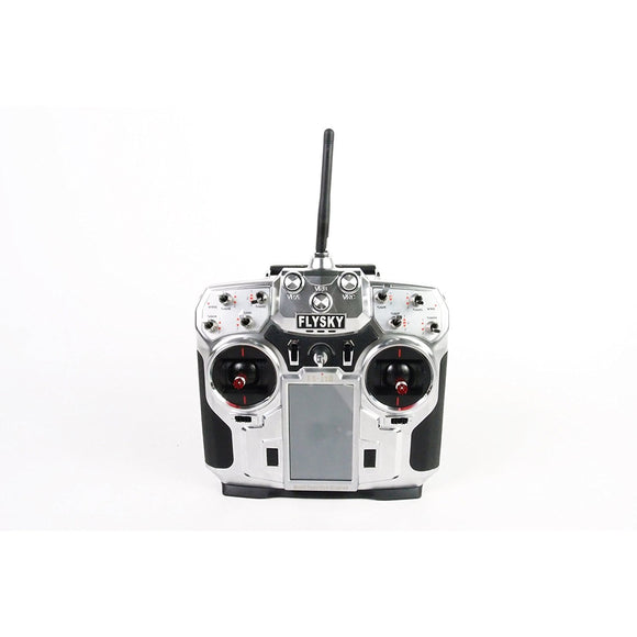 FS-i10 FlySky i10 2.4Ghz AFHDS2 10 Channel Transmitter with Telemetry System, Silver