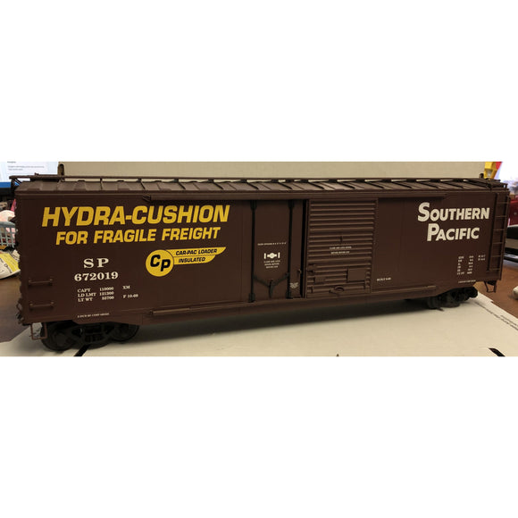 G Scale USA Trains R19302 Southern Pacific 672019 50' Hydra-Cushion Dual Door Bo