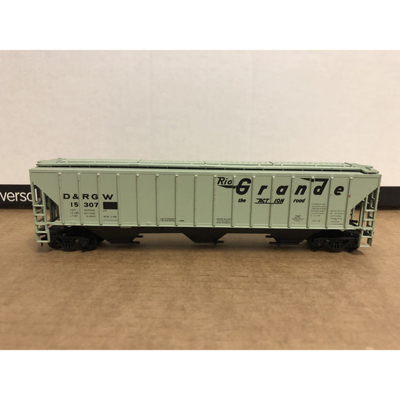 HO Scale Athearn Denver & Rio Grande Western Covered Hopper 15307