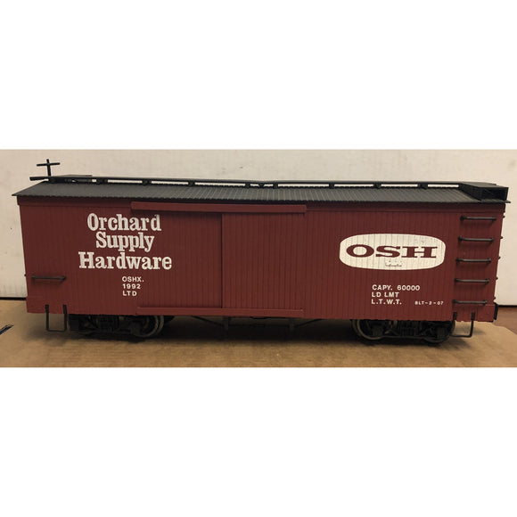 G Scale Bachmann Orchard Supply Hardware 1992 Boxcar