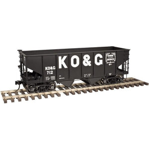 O Scale Atlas  3006813-3  Kansas Oklahoma & Gulf  55-Ton Coal Hopper #755  2 Rai