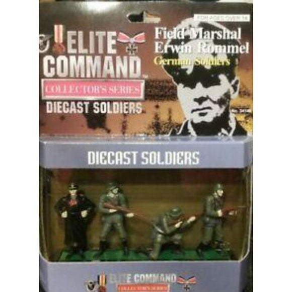 1/24 Blue Box Toys 34146 Elite Command Die Cast Soldiers Field Marshall Erwin Rommel