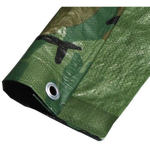 GREEN CAMO TARP-CHOOSE YOUR SIZE