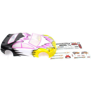 1012 1/10 200mm Onroad Car Body Pink and Yellow