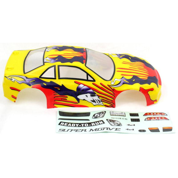 1014 1/10 200mm Onroad Body Yellow Flame