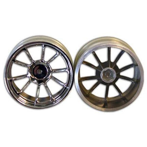 08008c 2.8 Chrome 10 spoke wheels 2pcs