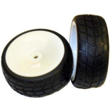 02117w White wheels and tires 2pcs