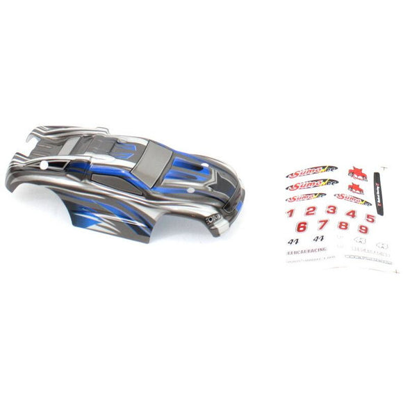 24200 Truggy Body- Silver+Blue for Sumo RC