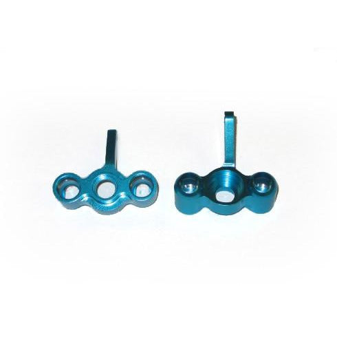 2186 Aluminum front steering knuckles (2pcs)(blue)