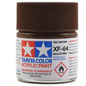 <p>Acrylic XF64, Flat Red Brown</p>