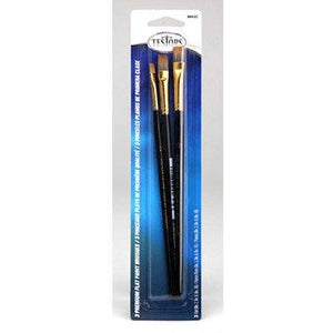 FLAT BRUSHES-SET OF 3