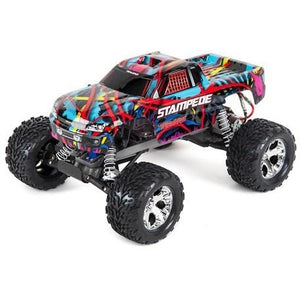 Traxxas Stampede 1/10 RTR Monster Truck (Hawaiian Edition) w/XL-5 ESC, TQi 2.4GHz Radio, Battery & Charger