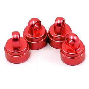 3767X Alum Shock Caps Red Fits All Ul Red-(4)