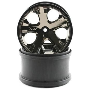 "3772A Rear All-Star 2.8"" Blk Chrome Whls(2):Electric"