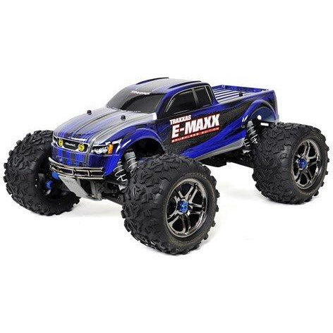 Traxxas E-Maxx RTR Brushless 4WD Monster Truck (Blue) w/TQi 2.4GHz Radio & TSM