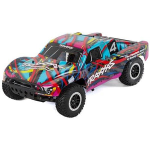 Traxxas Nitro Slash 3.3 1/10 2WD RTR SC Truck (Hawaiian Edition) w/TQ 2.4GHz Radio, TSM, Battery & DC Charger
