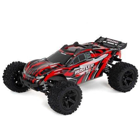 Traxxas Rustler 4X4 1/10 4WD RTR Stadium Truck (Red) w/TQ 2.4GHz Radio & iD Battery & Charger