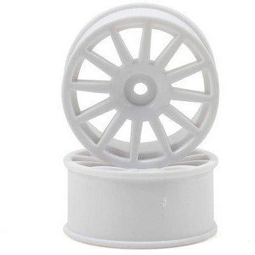 7571 Wheels, 12-Spoke, White 2Pc, Lax Rally