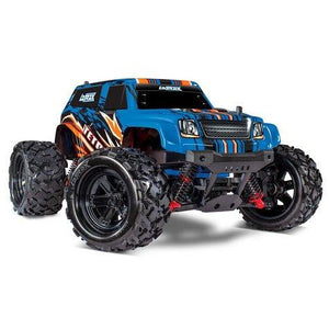 TRAXXAS 76054-5 LATRAX TETON 1/18 4WD RTR MONSTER TRUCK (BLUEX) W/2.4GHZ RADIO, BATTERY & AC CHARGER