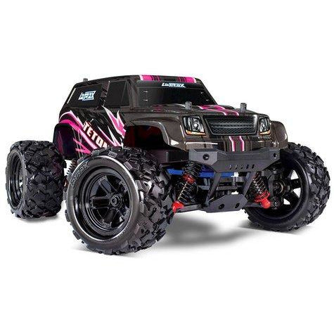 TRAXXAS 76054-5 LATRAX TETON 1/18 4WD RTR MONSTER TRUCK (PINK) W/2.4GHZ RADIO, BATTERY & AC CHARGER