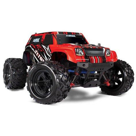 TRAXXAS 76054-5 LATRAX TETON 1/18 4WD RTR MONSTER TRUCK (RED) W/2.4GHZ RADIO, BATTERY & AC CHARGER