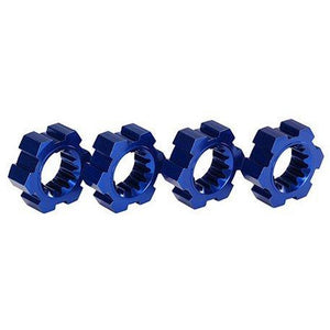 7756X Wheel Hubs, Hex, Aluminum (Blue-Anodized)(4) Xmaxx