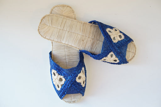 Blue Medallion Sandals