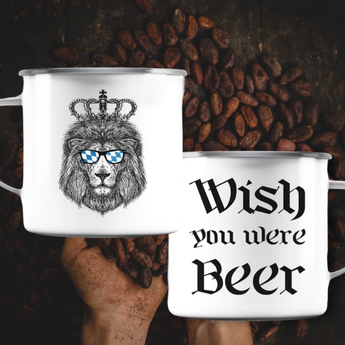 Wish you Beer Emaille Tasse - Emaille Tasse