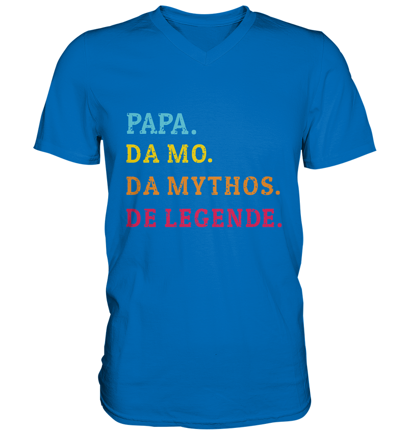 Papa, Mo, Mythos, Legende - Mens V-Neck Shirt