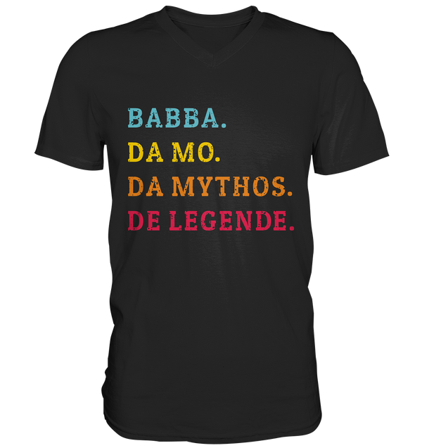 Babba, Mo, Mythos, Legende - Mens V-Neck Shirt