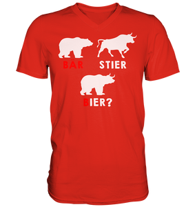 Bär-Stier -Bier? - Mens V-Neck Shirt