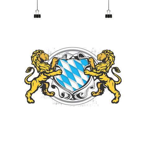 Bayern Wappen Poster Large (A1+)