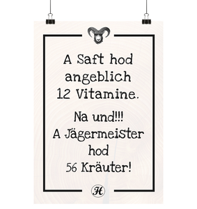 A Saft hod angeblich 12 Vitamine Poster Small (A3+)