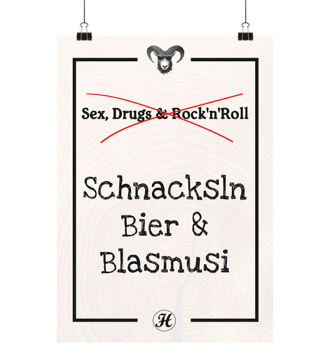 Sex Drugs & Rock'n Roll Poster Small (A3+)