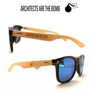 Architects are the bomb - Unisex schwarz Sonnenbrille mit Lasergravur